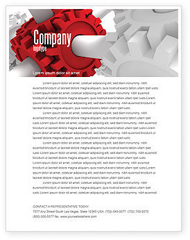 Connecting Point Letterhead Template, 07132, Utilities/Industrial — PoweredTemplate.com