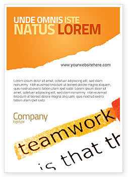 Teamwork Principles Ad Template, 07133, Education & Training — PoweredTemplate.com