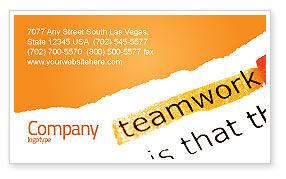 Education & Training: Teamwork Principles Business Card Template #07133
