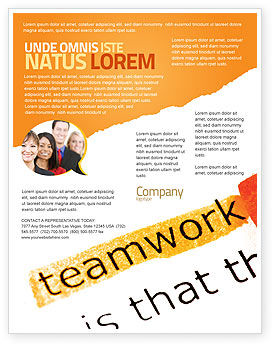 Education & Training: Teamwork Principles Flyer Template #07133