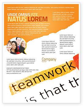 Education & Training: チームワークの原則 - チラシテンプレート #07133