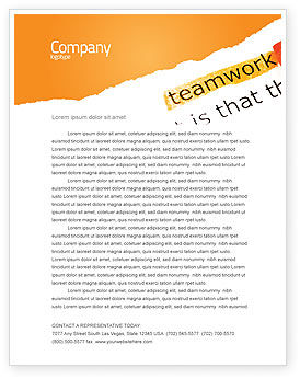 Teamwork Principles Letterhead Template, 07133, Education & Training — PoweredTemplate.com