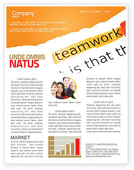 Education & Training: Teamwork Principles Newsletter Template #07133