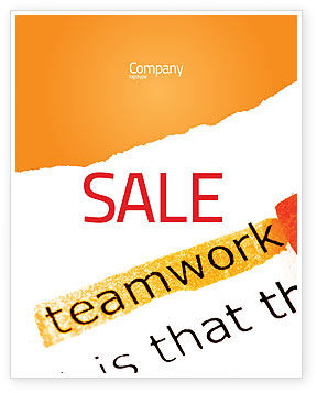 Education & Training: チームワークの原則 - ポスターテンプレート #07133