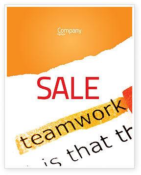 Teamwork Principles Sale Poster Template, 07133, Education & Training — PoweredTemplate.com