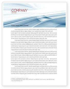 Clean Theme Letterhead Template, 07134, Abstract/Textures — PoweredTemplate.com