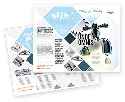 Water tap brochure template design and layout download for Water brochure template