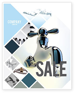 Water Tap Sale Poster Template, 07138, Nature & Environment — PoweredTemplate.com