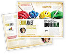 Education & Training: Alle Mensen Schriftelijk Brochure Template #07148