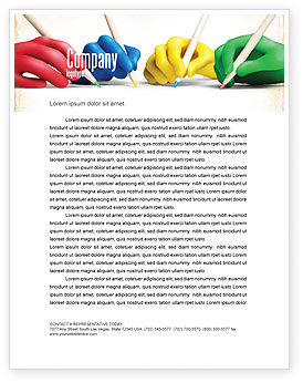 All People Writing Letterhead Template, 07148, Religious/Spiritual — PoweredTemplate.com