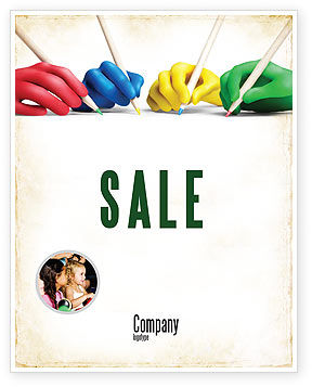 All People Writing Sale Poster Template, 07148, Education & Training — PoweredTemplate.com