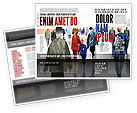 People: Drukke Plaats Brochure Template #07162