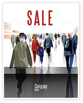 Crowded Place Sale Poster Template