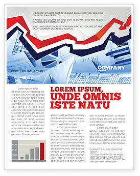 Financial/Accounting: Rates and Charts Newsletter Template #07174