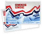 Financial/Accounting: Rates and Charts Postcard Template #07174
