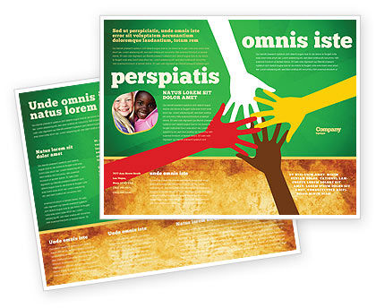 Racial Unity Brochure Template Design And Layout, Download Now