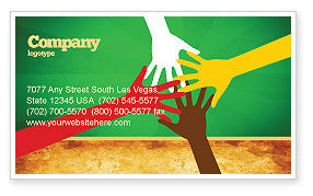 Religious/Spiritual: Racial Unity Business Card Template #07178