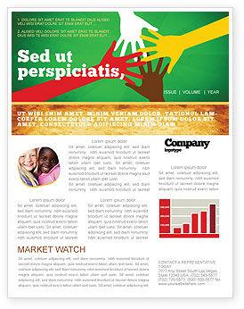 Racial Unity Newsletter Template, 07178, Religious/Spiritual — PoweredTemplate.com