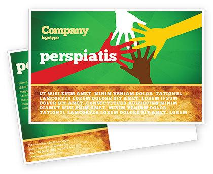 Religious/Spiritual: Modello Cartolina - L'unità razziale #07178