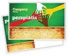 Religious/Spiritual: Racial Unity Postcard Template #07178