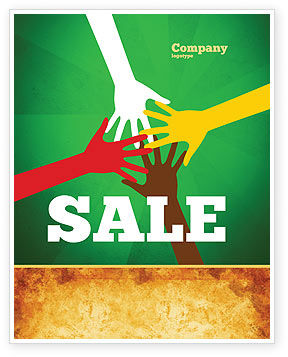 Religious/Spiritual: Racial Unity Sale Poster Template #07178