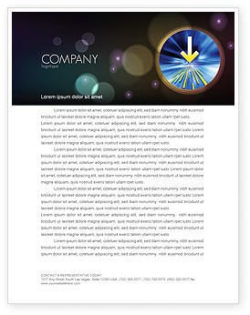 Business Concepts: Striking Point Letterhead Template #07185