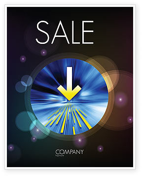 Striking Point Sale Poster Template, 07185, Business Concepts — PoweredTemplate.com