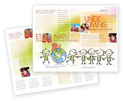 Kiddy Theme Brochure Template, 07189, Education & Training — PoweredTemplate.com