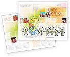 Education & Training: Modello Brochure - Tema kiddy #07189