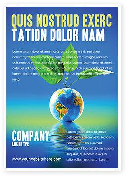 肥沃的地球广告模板, 07199, 全球 — PoweredTemplate.com