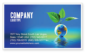 Fertile Earth Business Card Template, 07199, Global — PoweredTemplate.com
