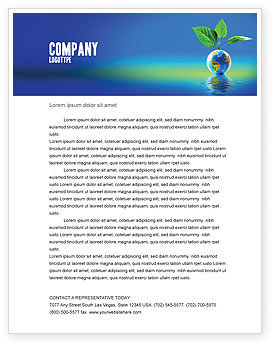 Fertile Earth Letterhead Template, 07199, Global — PoweredTemplate.com