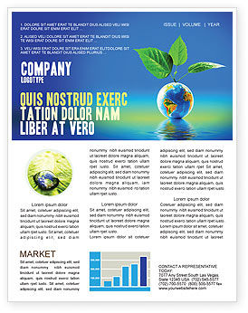 Fertile Earth Newsletter Template, 07199, Global — PoweredTemplate.com