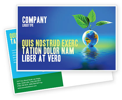 Fertile Earth Postcard Template, 07199, Global — PoweredTemplate.com