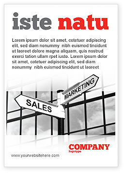 Careers/Industry: Marketing and Sales Ad Template #07207