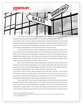 Marketing and Sales Letterhead Template, 07207, Careers/Industry — PoweredTemplate.com