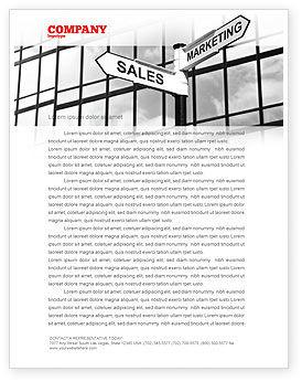 Marketing and Sales Letterhead Template, 07207, Careers/Industry — PoweredTemplate.com