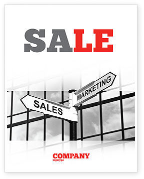 Marketing and Sales Sale Poster Template, 07207, Careers/Industry — PoweredTemplate.com