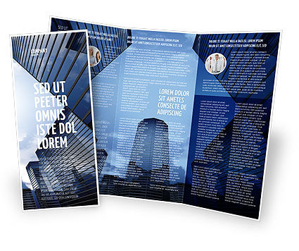 Business Center In Downtown Brochure Template