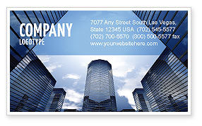 Construction: Business Center In Downtown Business Card Template #07208