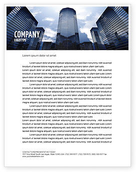 Construction: Business Center In Downtown Letterhead Template #07208