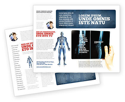 X-Ray Photography Brochure Template, 07221, Medical — PoweredTemplate.com
