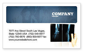 Medical: X-Ray Photography Business Card Template #07221