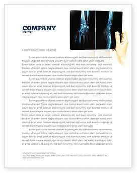 Medical: X-Ray Photography Letterhead Template #07221
