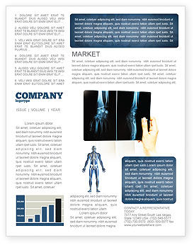 X-Ray Photography Newsletter Template, 07221, Medical — PoweredTemplate.com