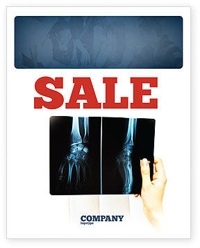 X-Ray Photography Sale Poster Template, 07221, Medical — PoweredTemplate.com