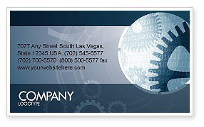Technology, Science & Computers: Software Developing Business Card Template #07236