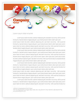Technology, Science & Computers: Connected to World Letterhead Template #07240
