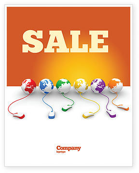Technology, Science & Computers: Connected to World Sale Poster Template #07240
