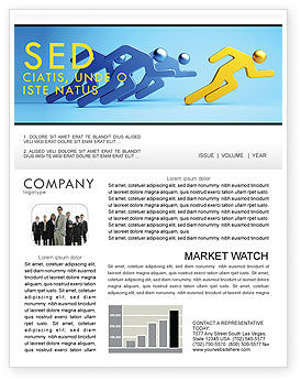 Rival Newsletter Template, 07246, Business Concepts — PoweredTemplate.com